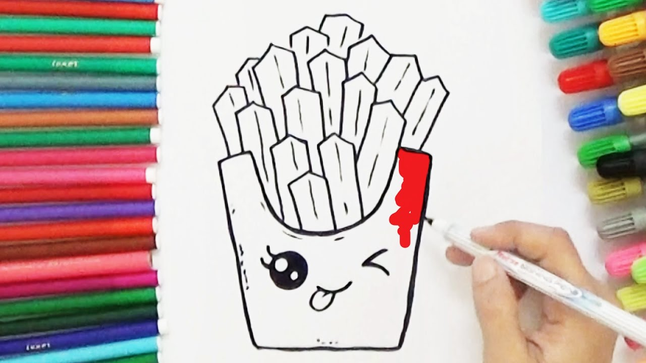 1280x720 How To Draw Cute French Fries
