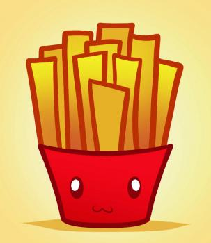 303x350 How To Draw How To Draw Fries, Fries