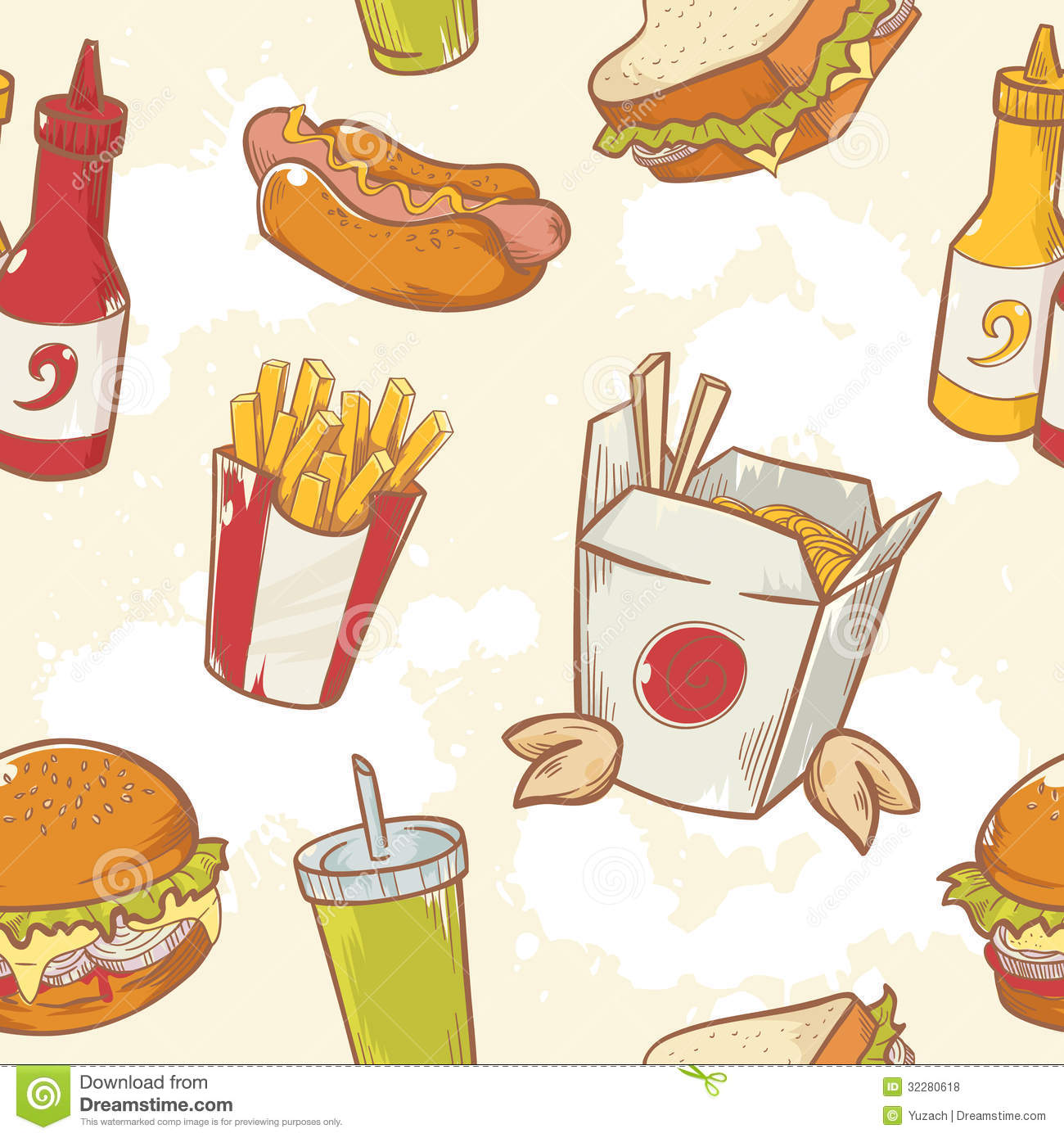 1300x1390 French Fry Pattern With Burger Drawing Defensive Attention It