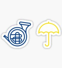 210x230 Blue French Horn Stickers Redbubble