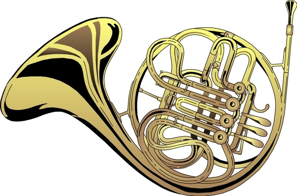 600x396 French Horn Free Vector In Open Office Drawing Svg ( Svg ) Vector