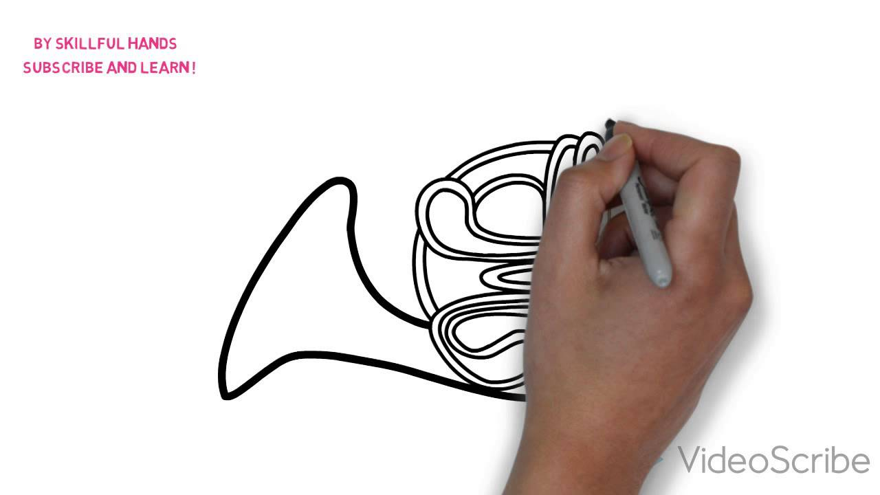 1280x720 How To Draw A French Horn