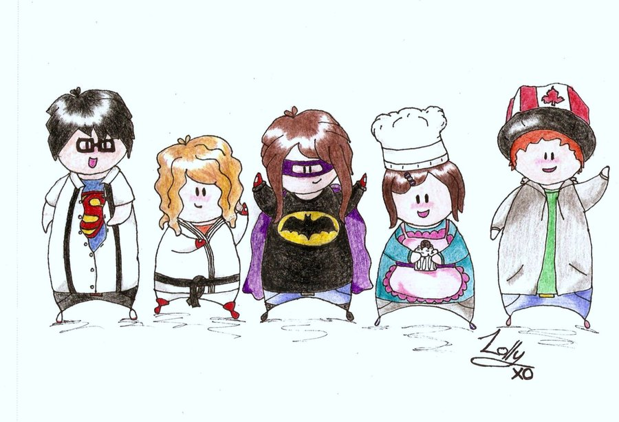 900x613 A Cartoon Drawing Of My Sister And Her Friends By