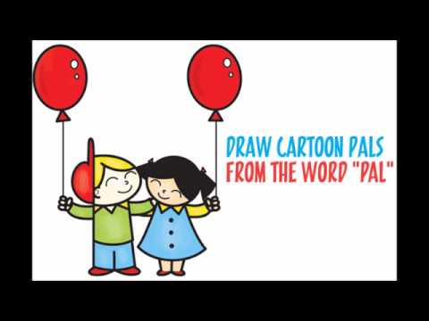 480x360 How To Draw Cartoon Friends Pals Word Toon Easy Step By Step