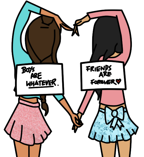 500x545 Best Friend Drawing Friends Are Forever. By ~themacaronikid