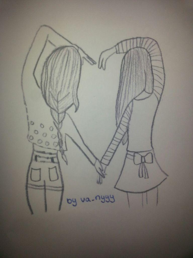 768x1024 Best Friends Drawings Drawings For Best Friends Drawing Best