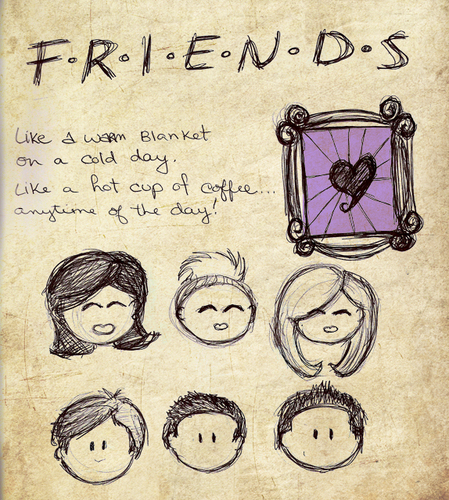 449x500 Friends Images Friends Drawing Wallpaper And Background Photos