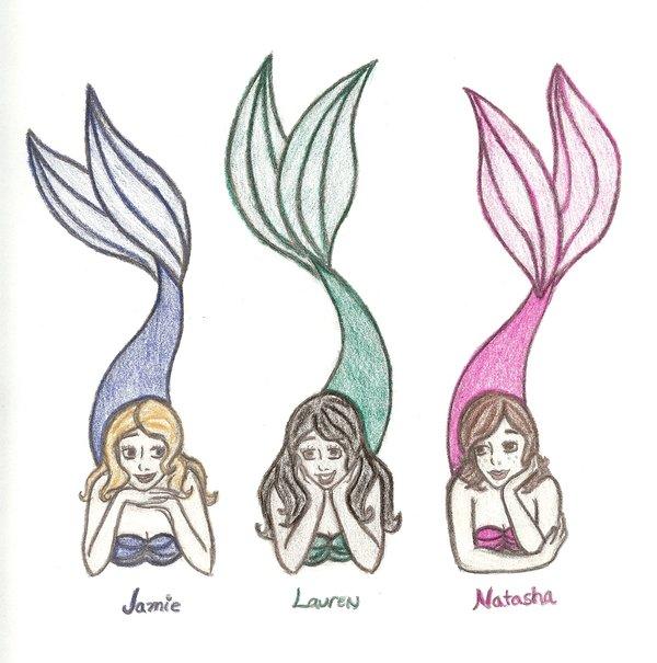 600x605 Three Mermaid Friends By Kyoishott13