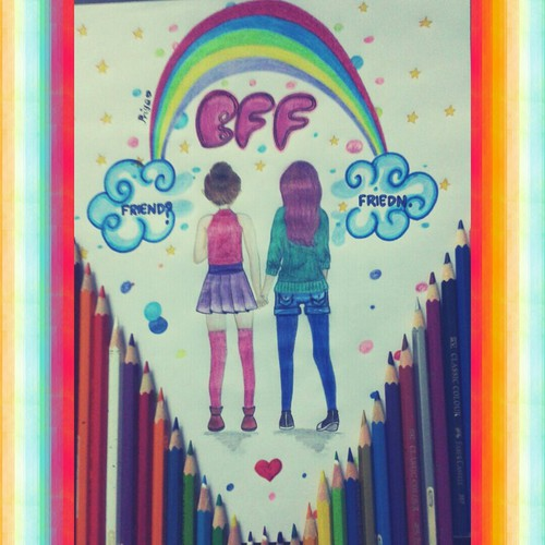 500x500 Happy Friendship Day Wid My Drawing On We Heart It