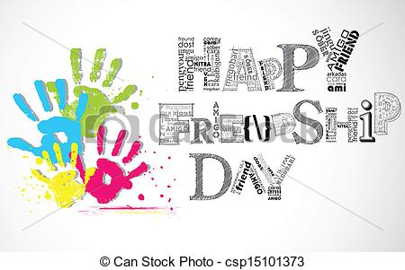 450x301 Illustration Of Colorful Hand Print Showing Happy Friendship