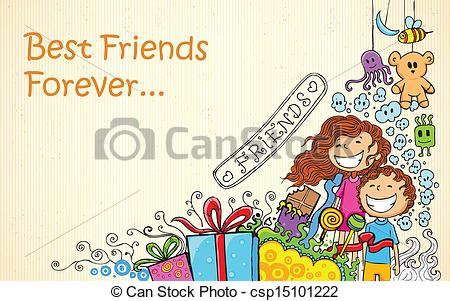 450x301 Illustration Of Friendship Day Doodle In Sketchy Look Vector