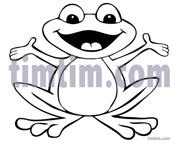 571x462 free drawing of a happy frog bw from the category reptiles