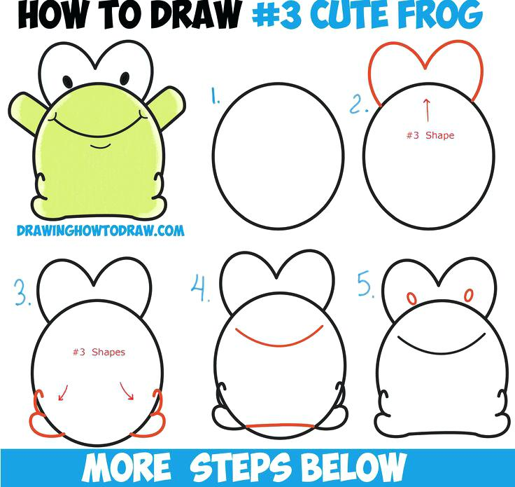 736x695 Drawing Of Kids How To Draw Cute Cartoon Baby Frog From Number 3