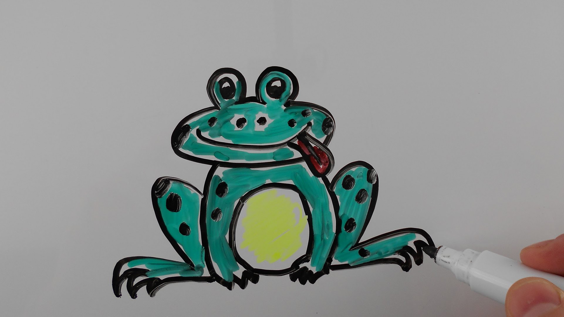 1922x1080 Easy Whiteboard Drawings Flowers How To Draw Frog Drawing On
