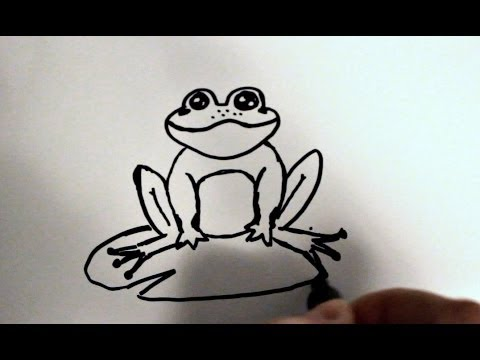 480x360 How To Draw A Frog Step By Step Easy Cartoon Project For Children