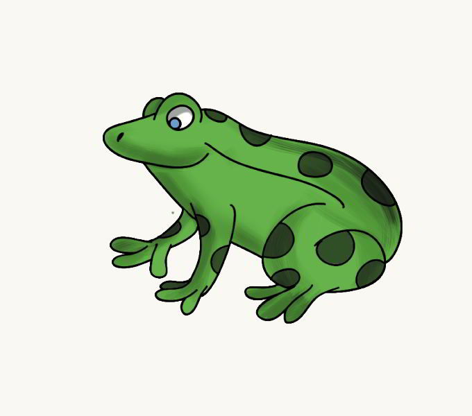 680x600 How To Draw A Cartoon Frog In A Few Easy Steps Easy Drawing Guides