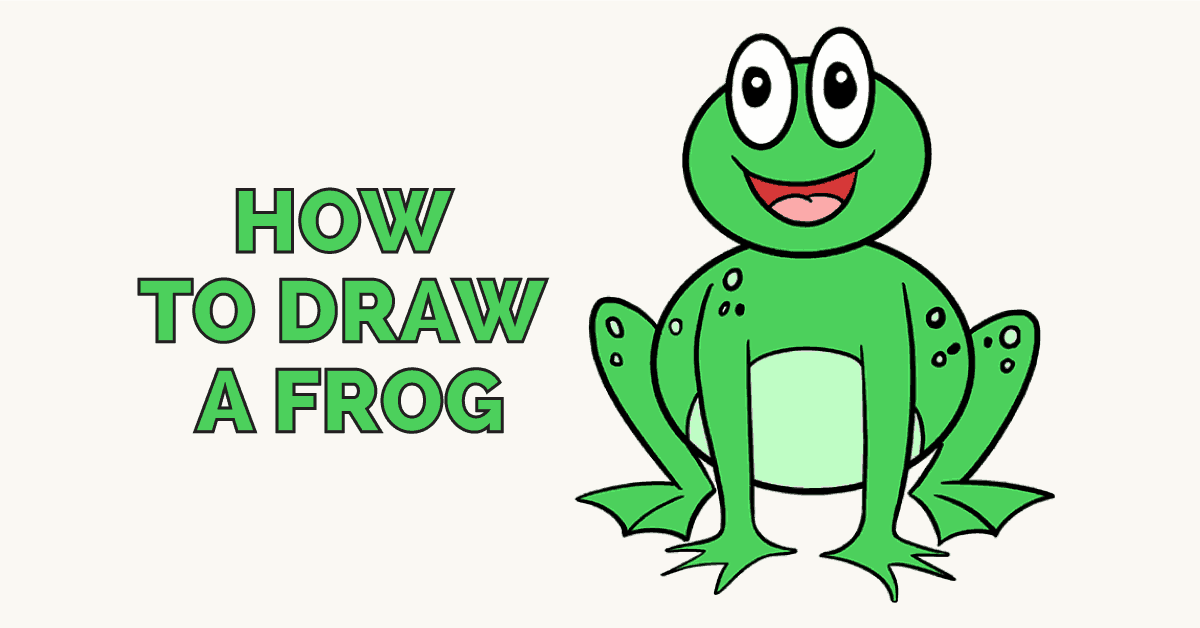 1200x628 How To Draw A Frog Really Easy Drawing Tutorial Easy Drawing