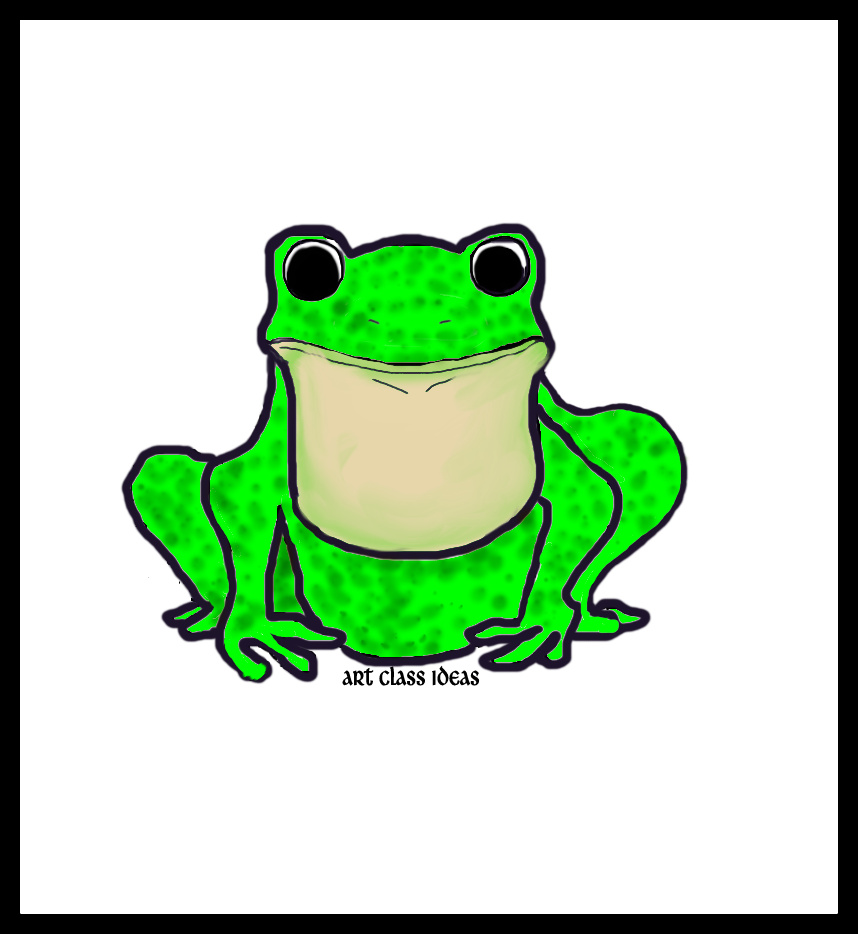 Frog Drawing Kids at GetDrawings.com | Free for personal use Frog ...