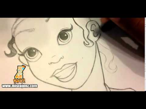 480x360 Drawing Princess Tiana From Disney's The Princess And The Frog Www