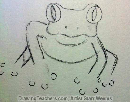 550x432 How To Draw A Realistic Tree Frog Draw A Tree Frog Tutorial Part