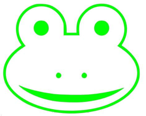 472x376 Ribbit A Cute Frog Face Outline Vinyl Decal By Itsastickysituation