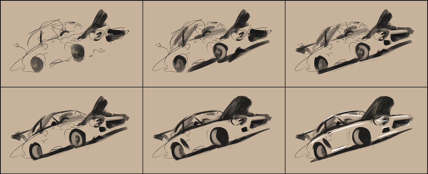 1401x570 Drawing Car From Imagination By Ales Kotnik