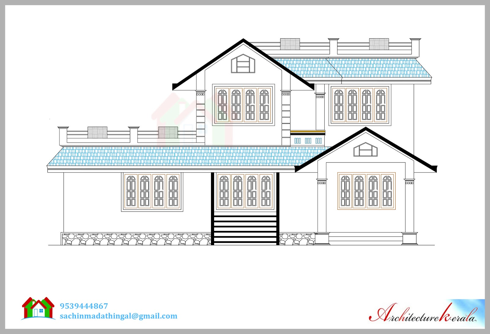 Front Elevation Oblique Drawing : Front elevation drawing at getdrawings free for