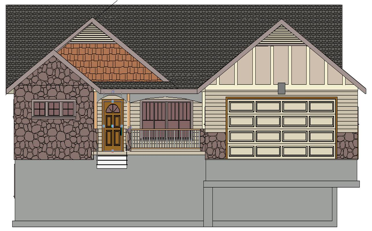 Front Elevation Plan Dwg : Front elevation drawing at getdrawings free for