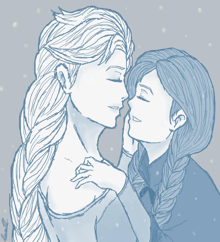 930x1024 Frozen, Elsa And Anna By Blackangel94a
