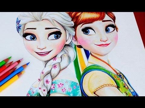 480x360 Elsa Amp Anna Drawing Frozen Fever