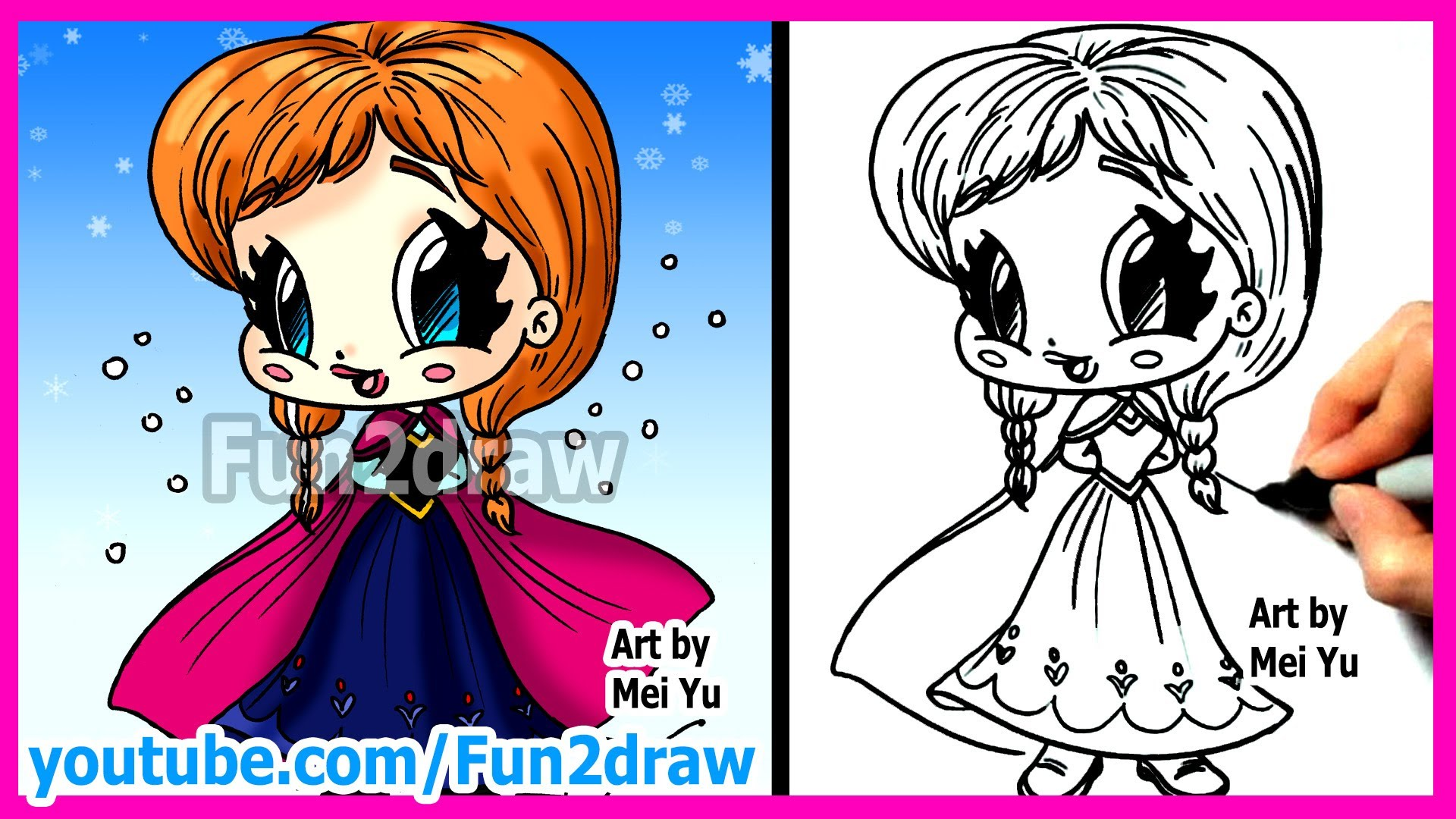 1920x1080 How To Draw Disney Princesses Amp Characters