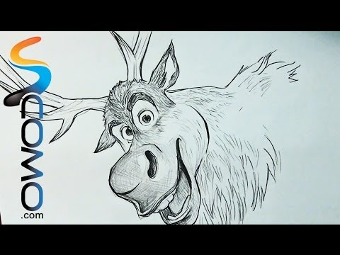 480x360 How To Draw Sven From Frozen