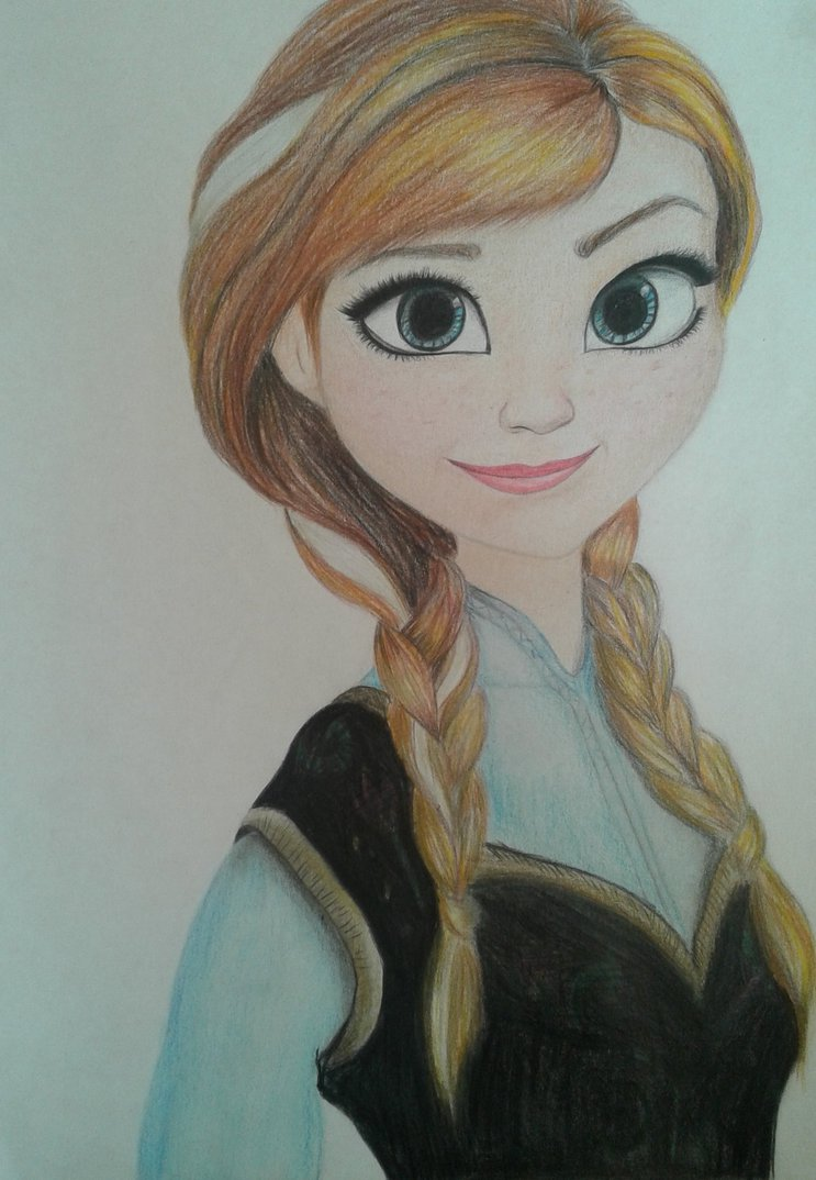 743x1074 Anna Drawing From Frozen By Xbopcxi