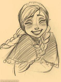 236x314 Elsa, Anna (Jin Kim) Pencil Drawings Elsa Anna