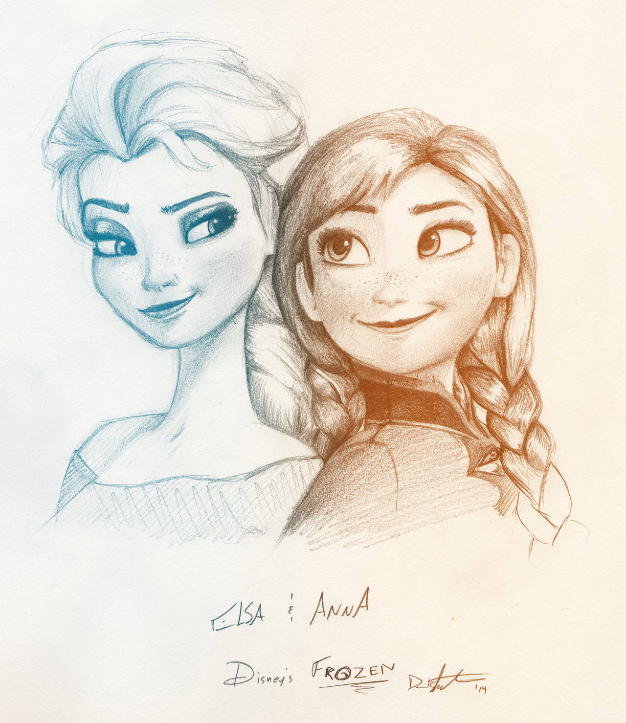 1280x1479 Frozen Elsa And Anna By Saber Cow
