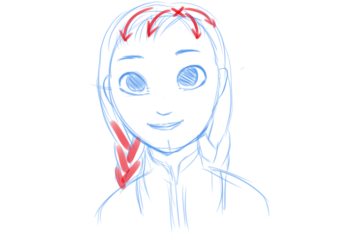 728x485 How To Draw Anna From Frozen 14 Steps (With Pictures)