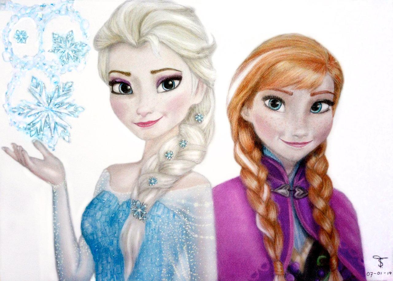 1280x916 Elsa And Anna