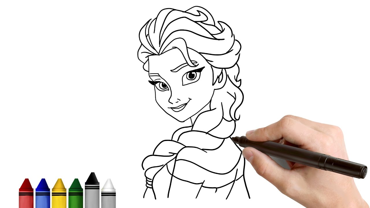 Frozen Drawing For Kids At GetDrawings