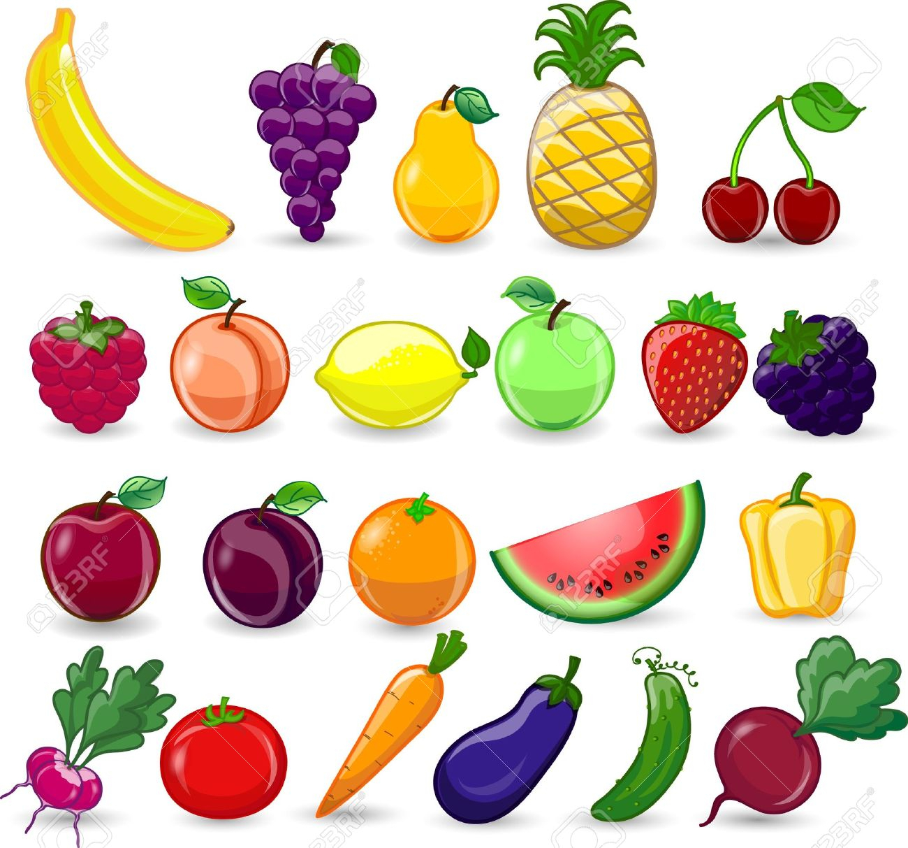 1300x1213 Drawing Of Fruits And Vegetables Drawn Fruit Fruit Vegetable