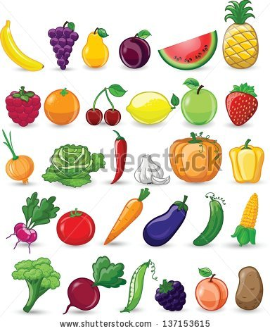 384x470 Stock Vector Cartoon Vegetables And Fruits 137153615how To Draw