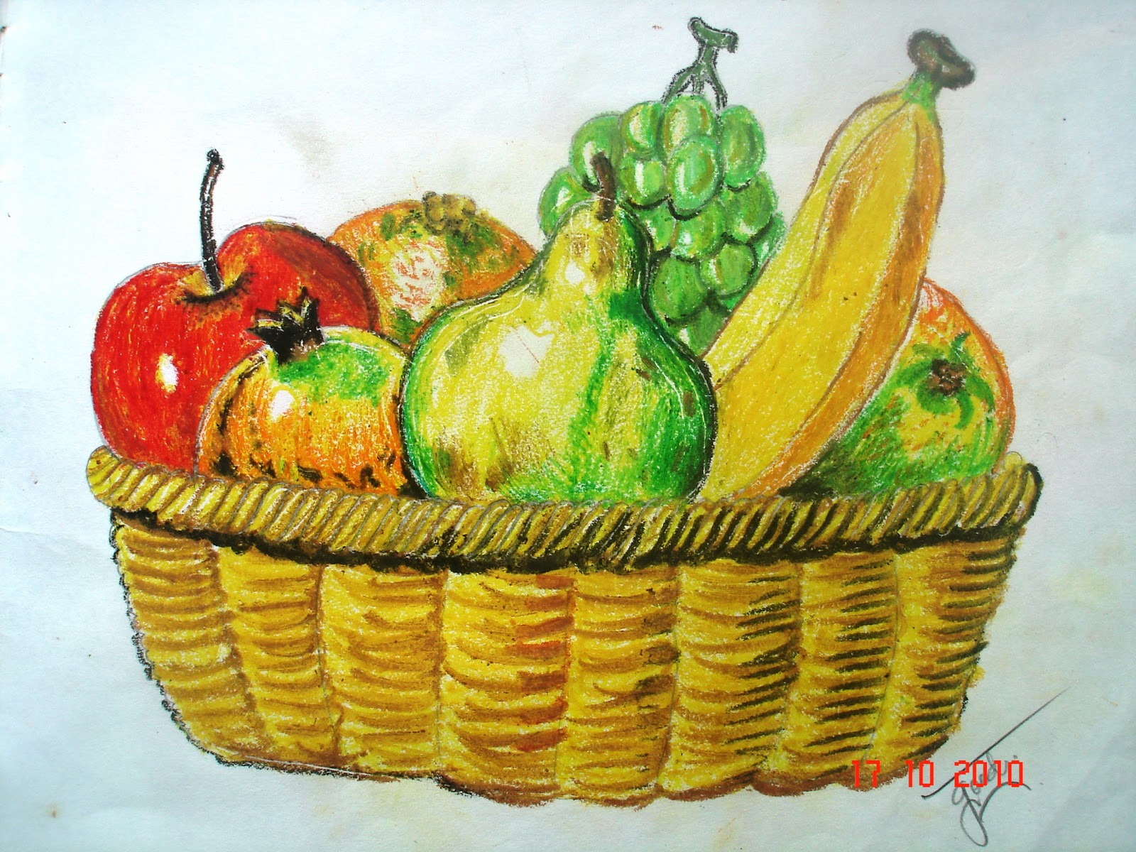 Fruit Basket Drawing At Getdrawings Com Free For Personal Use