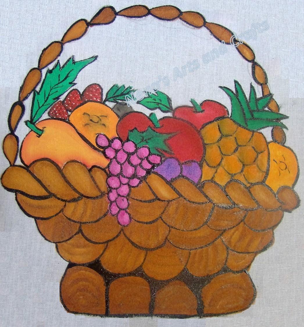 1046x1125 Nena39s Arts And Crafts Fabric Painting DIY Fruit Basket