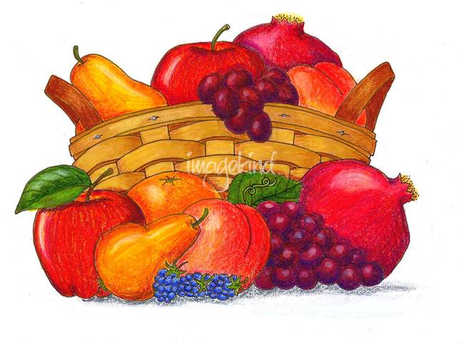 650x483 Stunning Fruit Basket Colored Pencil Drawings And Illustrations