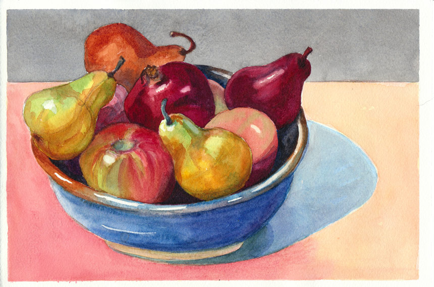 860x569 Better Bowl Of Fruit, Better Watercolor Now I Can Eat The Fruit
