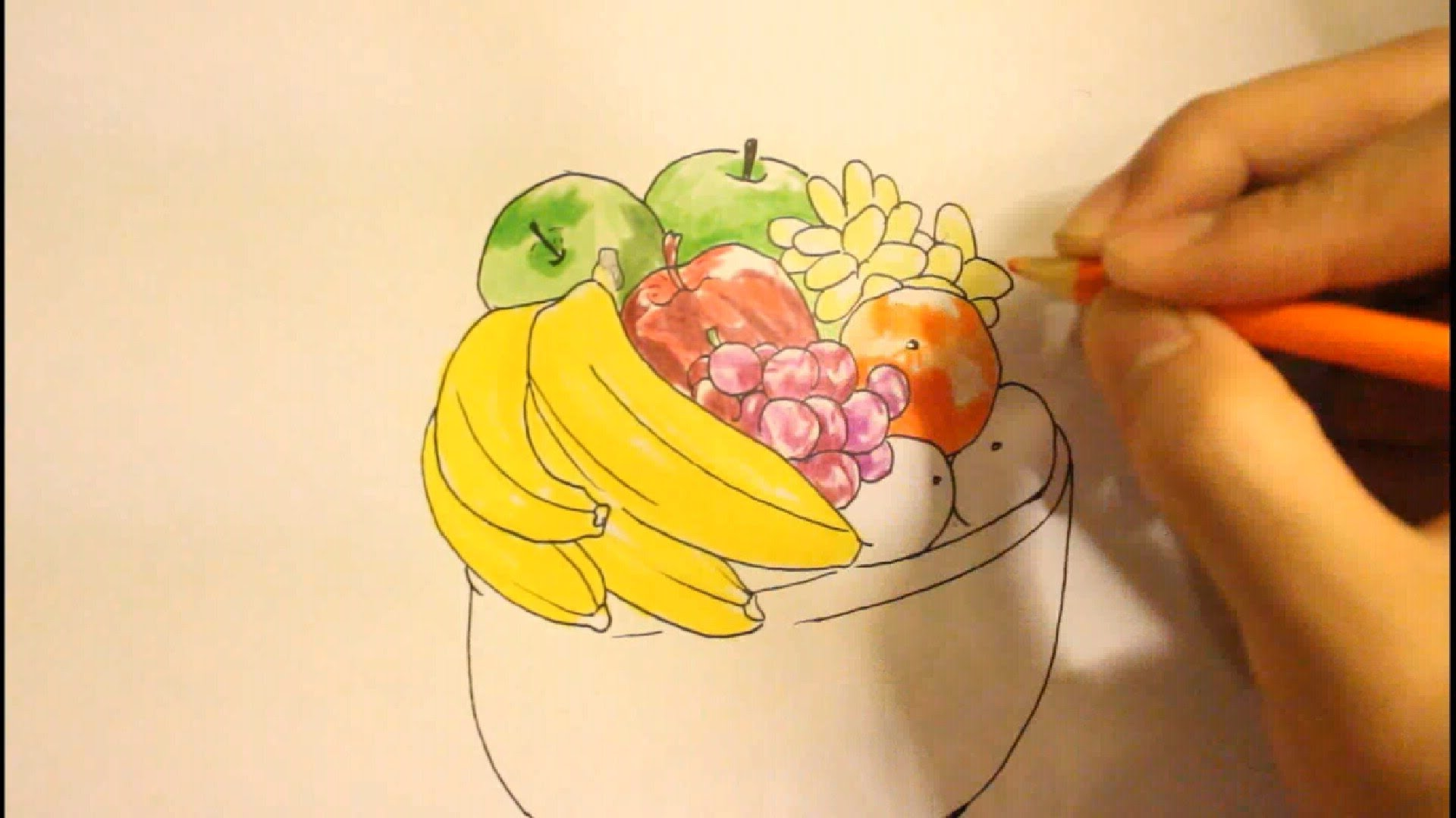 1920x1080 How To Draw A Bowl Of Fruitstep By Stepeasy