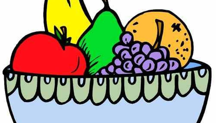 877x500 How To Draw A Fruit Bowl Our Pastimes