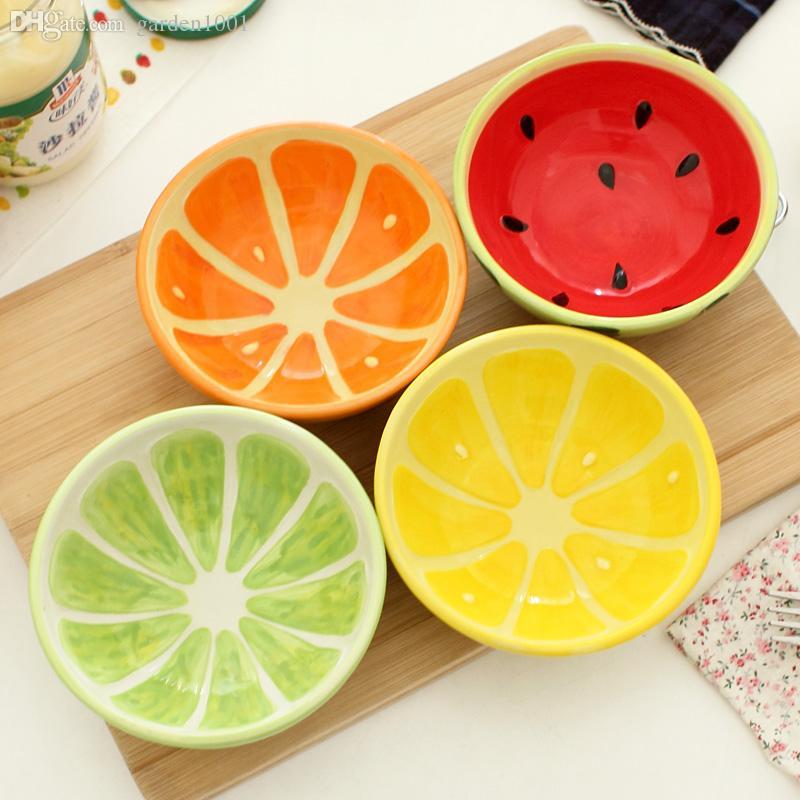 800x800 Colored Drawing Fruit Bowl Rice Bowl Soup Dessert Bowl Ceramic