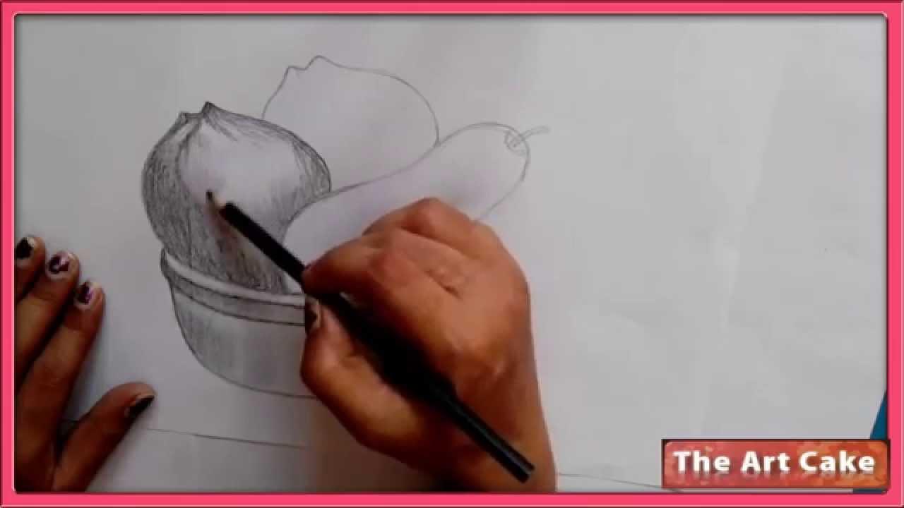 1280x720 Fruit Bowl Pencil Sketch. How To Draw Fruit Bowl