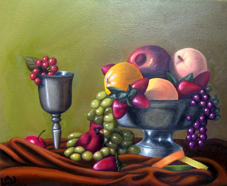 730x600 Fruit Bowl Still Life By Red Flare