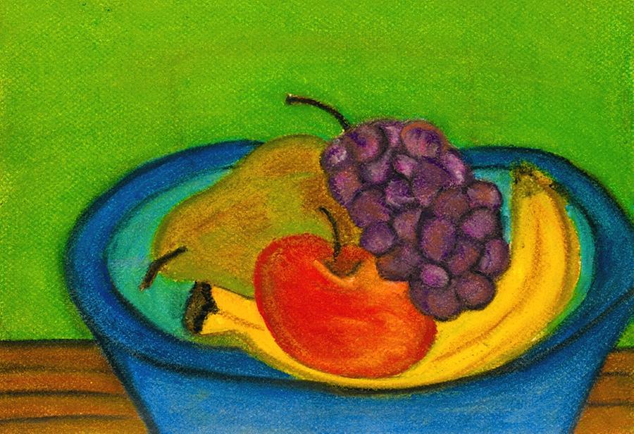 900x616 Fruit In Bowl Drawing By Katina Cote
